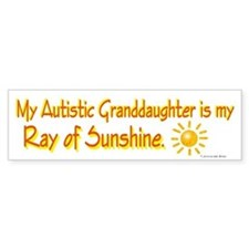 Ray Of Sunshine (Granddaughter) Bumper Car Sticker