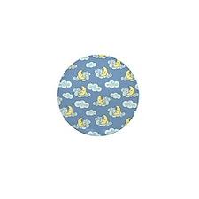 Sleeping Moon Mini Button