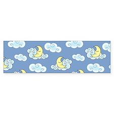Sleeping Moon Bumper Sticker
