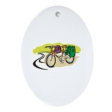 BICYCLE TRIP Ornament (Oval)