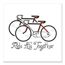 """RIDE LIFE TOGETHER Square Car Magnet 3"""" x 3"""""""
