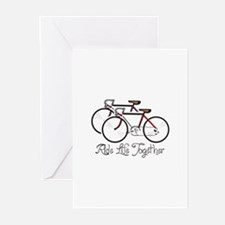 RIDE LIFE TOGETHER Greeting Cards