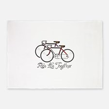 RIDE LIFE TOGETHER 5'x7'Area Rug