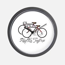 RIDE LIFE TOGETHER Wall Clock