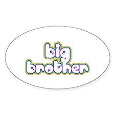 Rainbow Big Brother Oval Decal