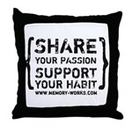 Share Your Passion Throw Pillow