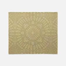 Pale Wood Throw Blanket