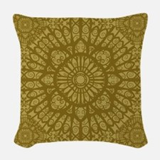 Wood Woven Throw Pillow