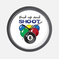 SHUT UP AND SHOOT Wall Clock