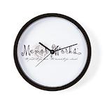 MemoryWorks Logo Wall Clock