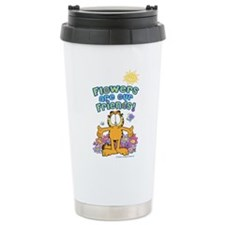 Flowers Are Our Friends Travel Mug
