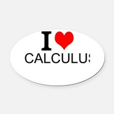 I Love Calculus Oval Car Magnet