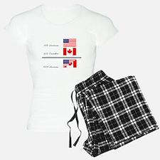 Half Canadian Half American pajamas