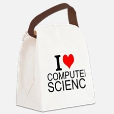 I Love Computer Science Canvas Lunch Bag