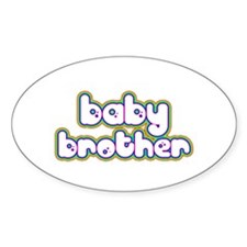 Rainbow Baby Brother Oval Decal