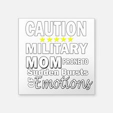 Caution Military Mom Sticker