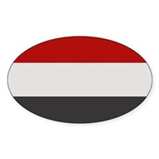"""Yemen Flag"" Oval Decal"