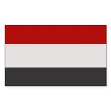 """Yemen Flag"" Rectangle Decal"