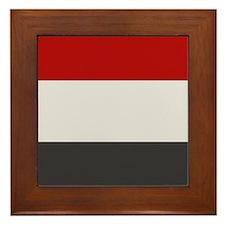 """""""Yemen Flag"""" Framed Tile"""