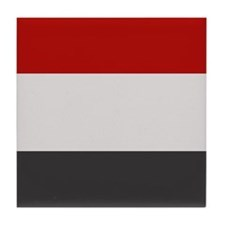 """Yemen Flag"" Tile Coaster"