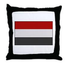 """Yemen Flag"" Throw Pillow"