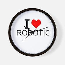 I Love Robotics Wall Clock