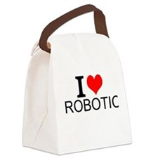I Love Robotics Canvas Lunch Bag
