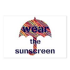 Custom Wear The Sunscreen Beach Sun Light Postcard