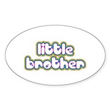 Rainbow Little Brother Oval Decal
