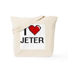 Cute I heart jeter Tote Bag