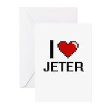 I Love Jeter Greeting Cards