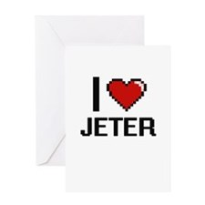 I Love Jeter Greeting Cards