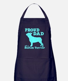 BOSTON TERRIER DAD Apron (dark)