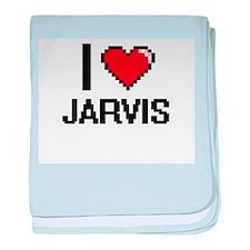 I Love Jarvis baby blanket