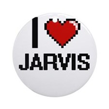 I Love Jarvis Ornament (Round)