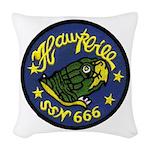 USS HAWKBILL Woven Throw Pillow