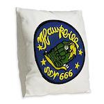 USS HAWKBILL Burlap Throw Pillow