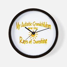 Rays Of Sunshine (Grandchildren) Wall Clock