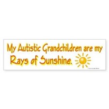 Rays Of Sunshine (Grandchildren) Bumper Bumper Sticker