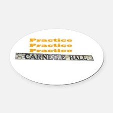 How Do You Get To Carnegie Hall? Oval Car Magnet