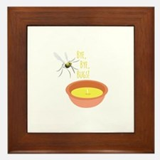 Bye Bugs Framed Tile