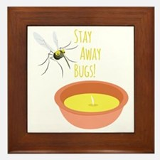 Stay Away Framed Tile