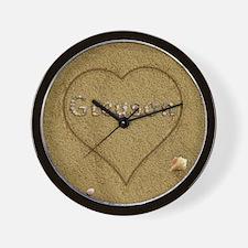Greyson Beach Love Wall Clock