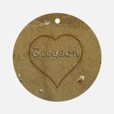 Greyson Beach Love Ornament (Round)