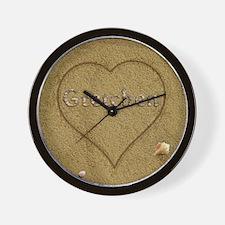 Gretchen Beach Love Wall Clock