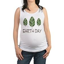 Earth Day Celebration Maternity Tank Top