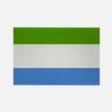 """Sierra Leone Flag"" Rectangle Magnet (10 pack)"