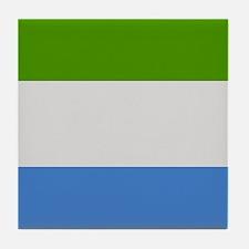 """""""Sierra Leone Flag"""" Tile Coaster"""