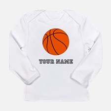 Orange Basketball Long Sleeve T-Shirt