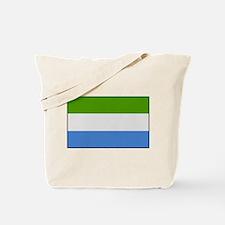 """""""Sierra Leone Flag"""" Tote Bag"""
